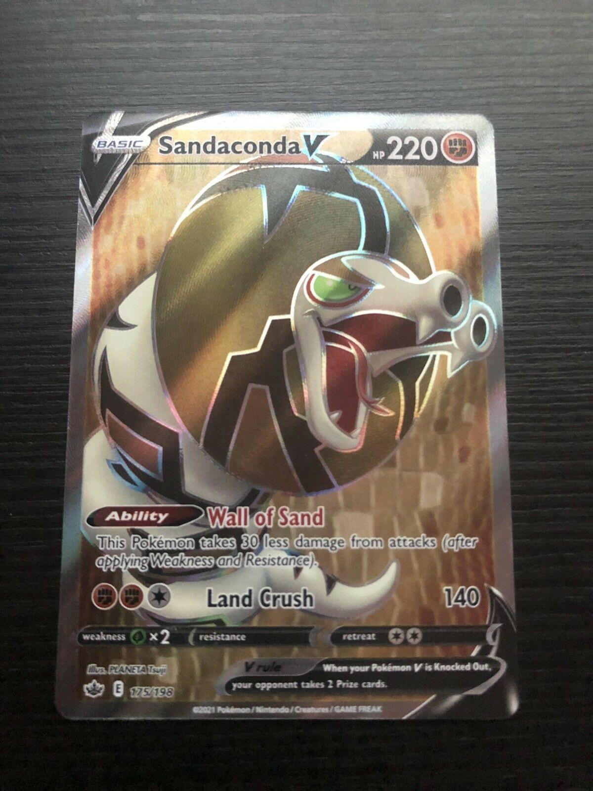 Pokemon TCG Sandaconda V 175/198 Ultra Rare Holo Full Art Chilling Reign NM-MT!!