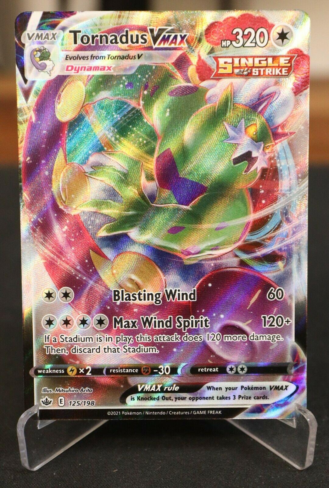 Pokemon Card Tornadus VMAX 125/198 Ultra Rare Chilling Reign NM