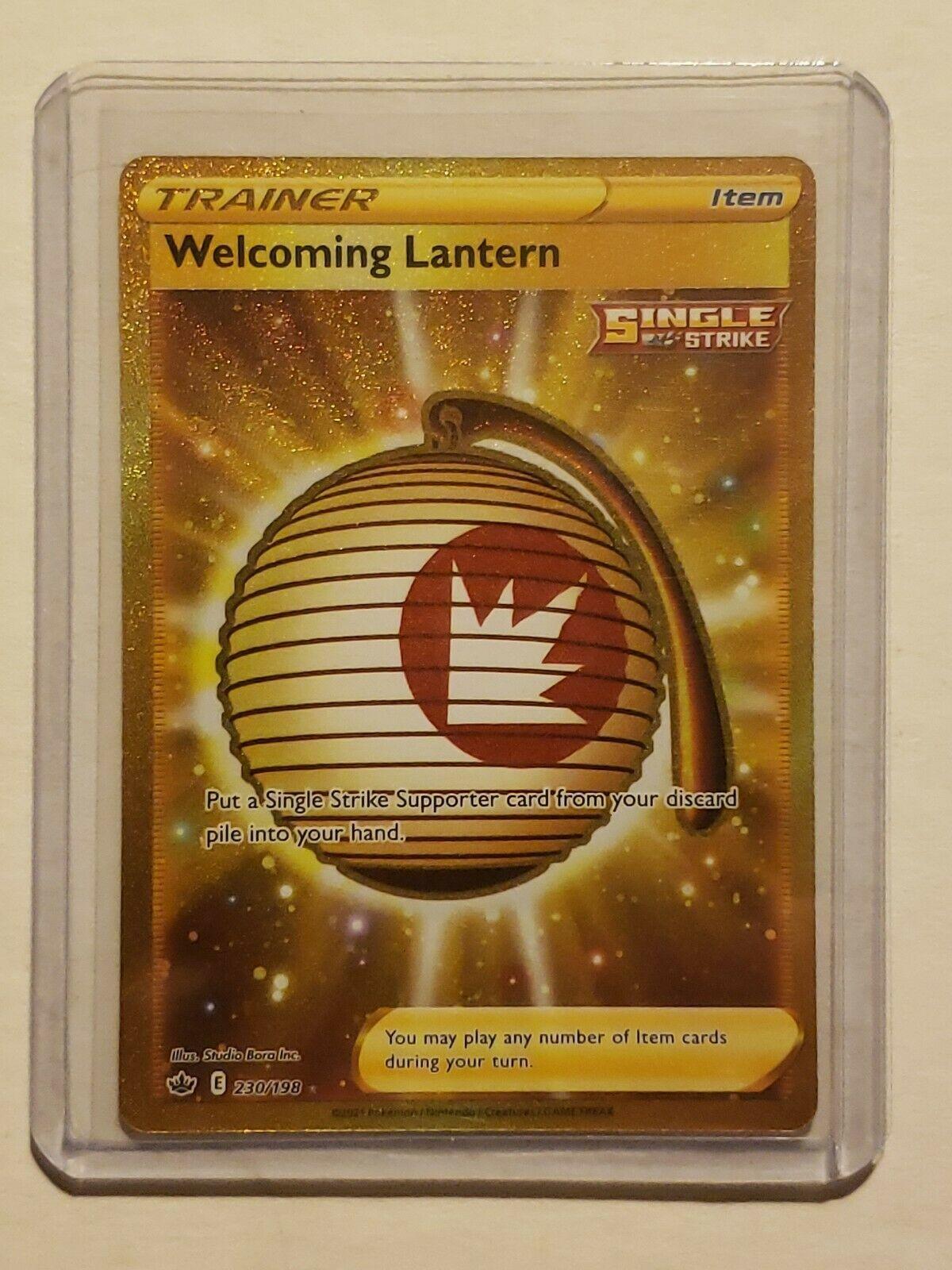 🔥Pokemon Welcoming Lantern 230/198 Secret Rare Chilling Reign NM🔥