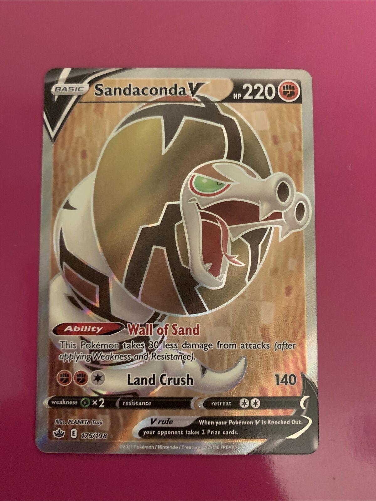 Sandaconda V 175/198 Full Art NM/M Chilling Reign Pokemon Card