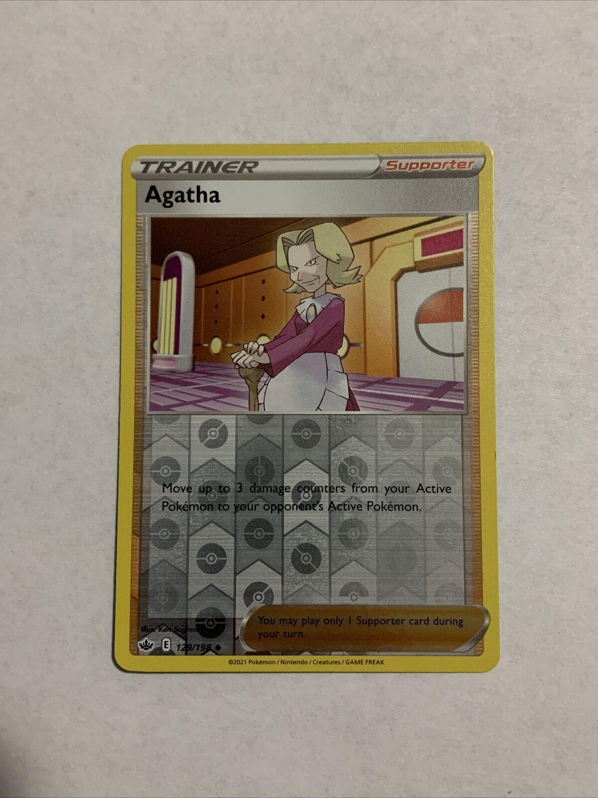 Agatha 129/198 Reverse Holo Chilling Reign Pokemon Card NM/M