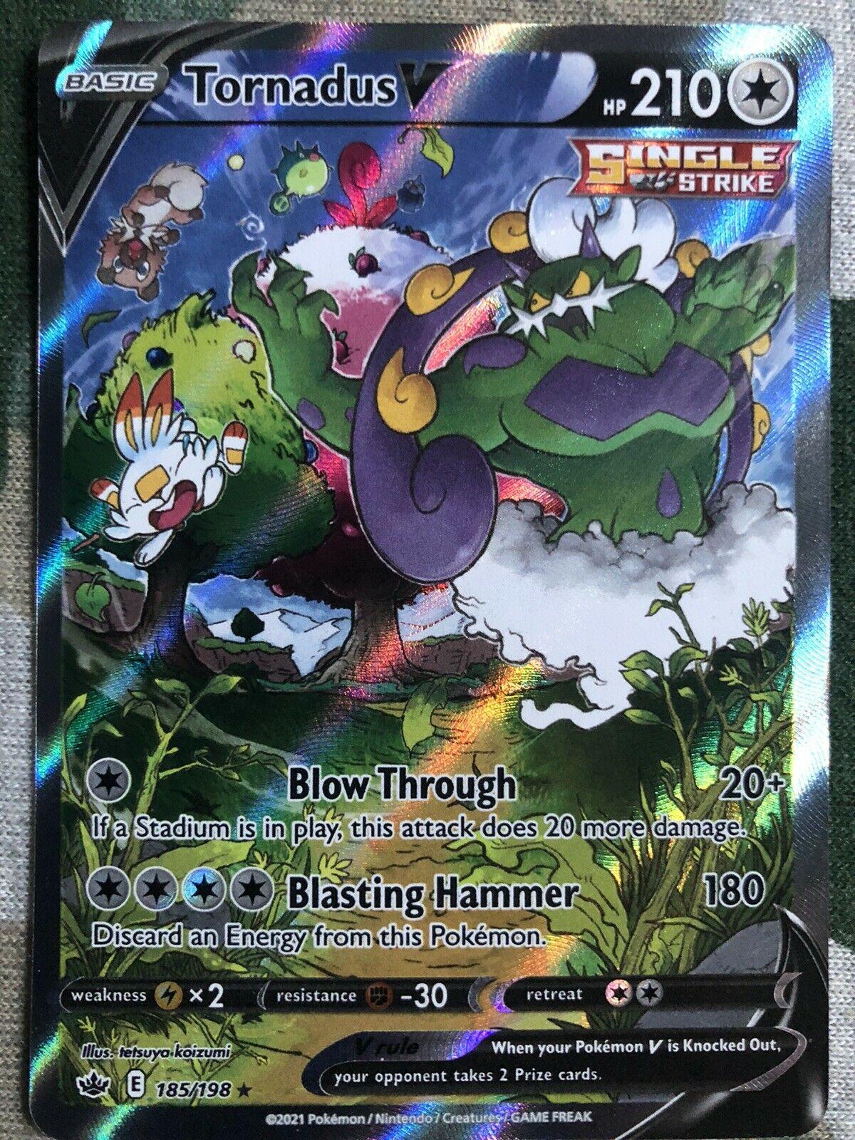 Tornadus V 185/198 Alternate Art NM/M Chilling Reign Pokemon Card