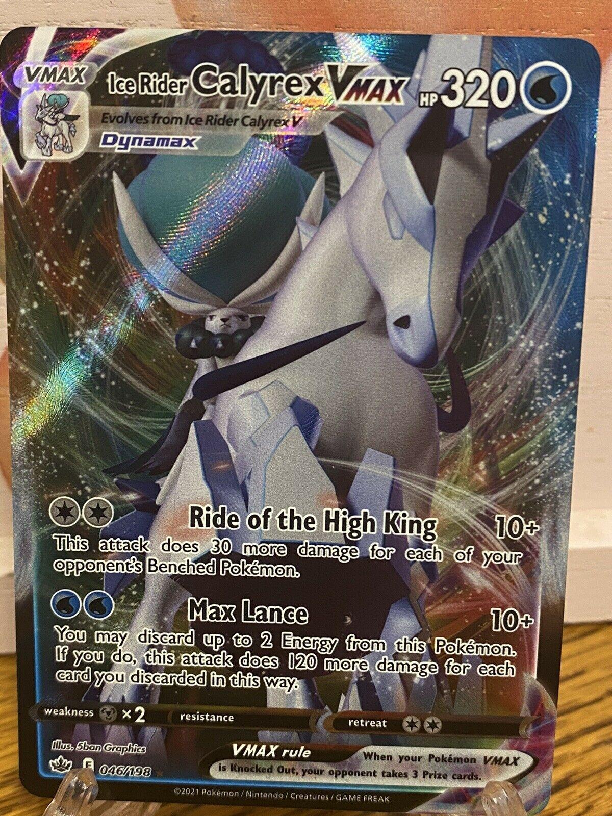 Ice Rider Calyrex Vmax 046/198 Pokémon TCG Chilling Reign Ultra Rare Near Mint