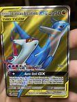 Latias & Latios GX Full Art Water Damaged 169/181 Team Up Pokémon Card DMG