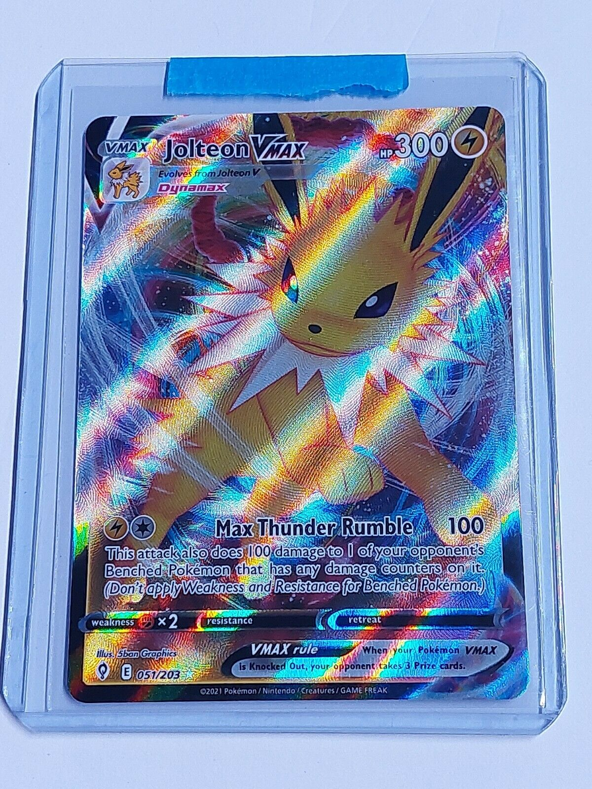 Pokémon Evolving Skies Jolteon Vmax Full Art 051/203