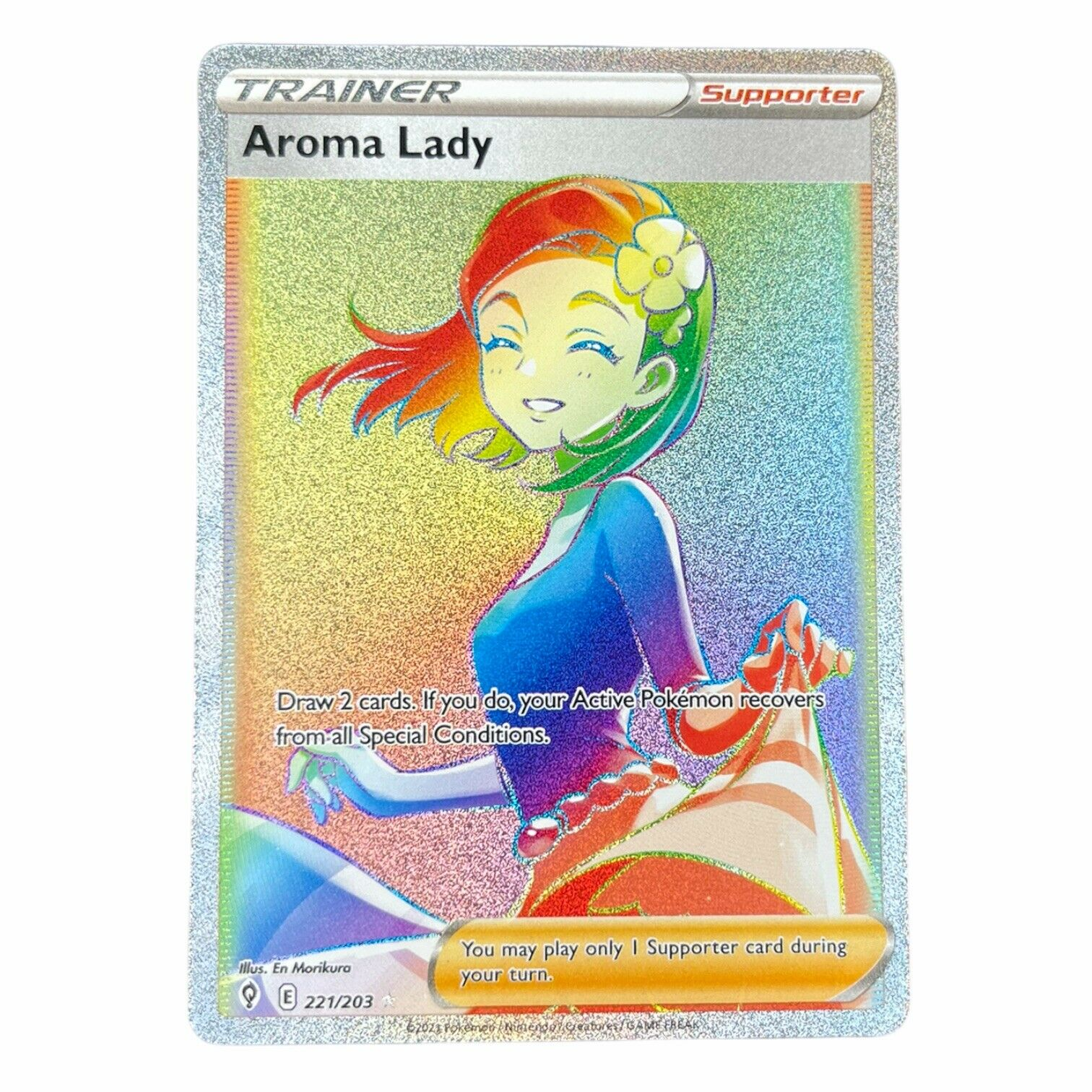 Pokémon Evolving Skies Aroma Lady Full Art Rainbow Secret Rare Trainer 221/203