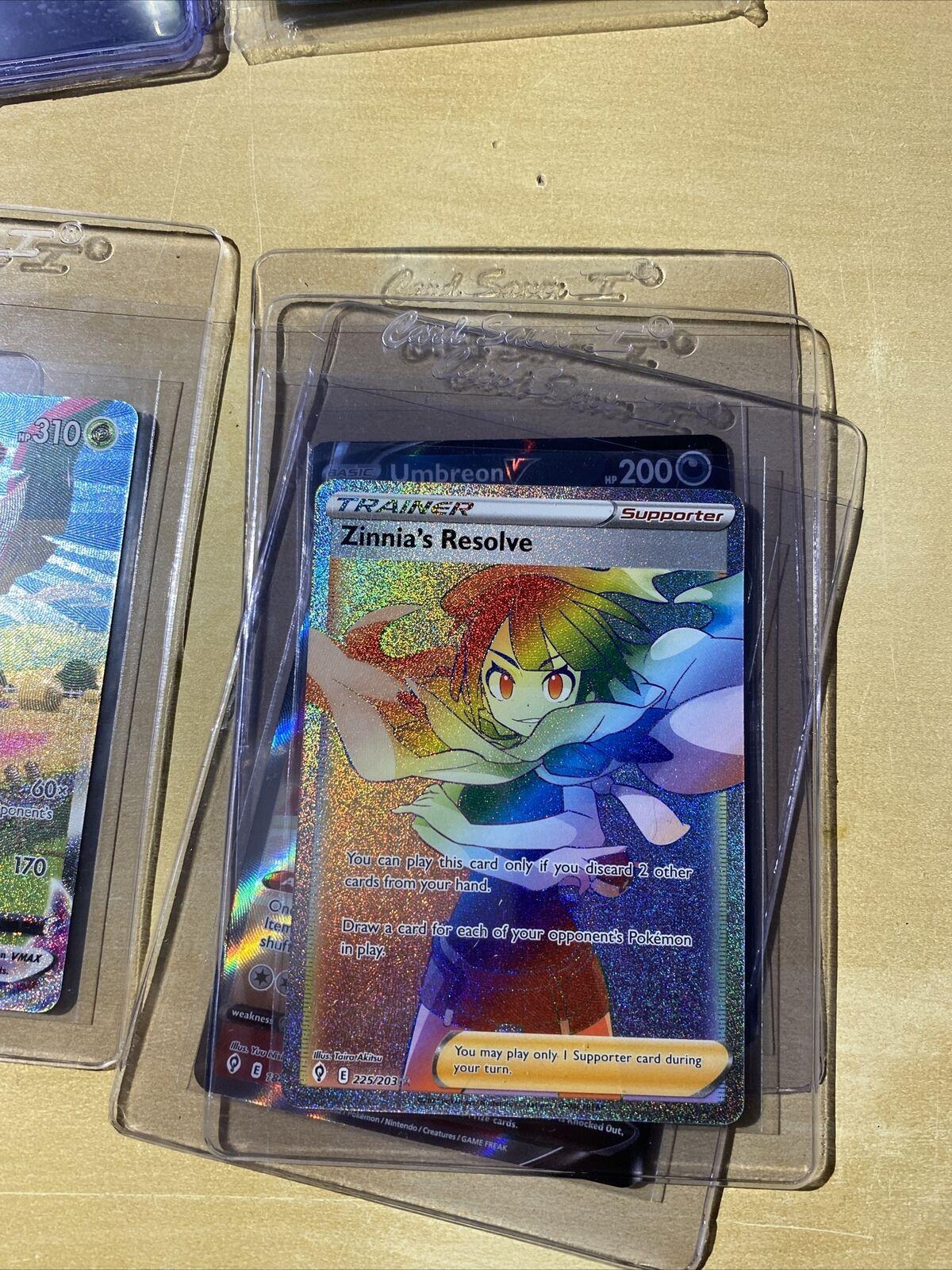 Zinnia's Resolve Full Art Evolving Skies 225/203 Secret Rare Pokemon Card NM/M