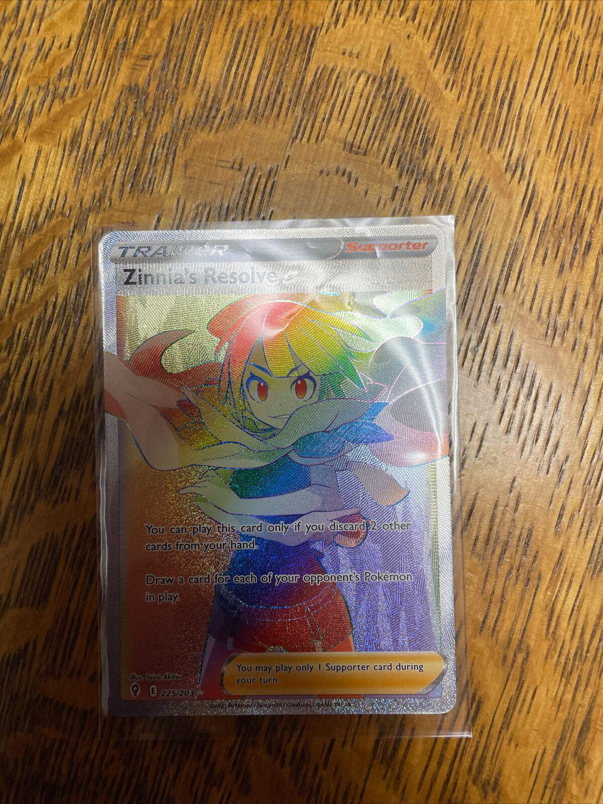 Zinnia's Resolve 225/203 Full Art Rainbow NM/M Evolving Skies Pokemon Card