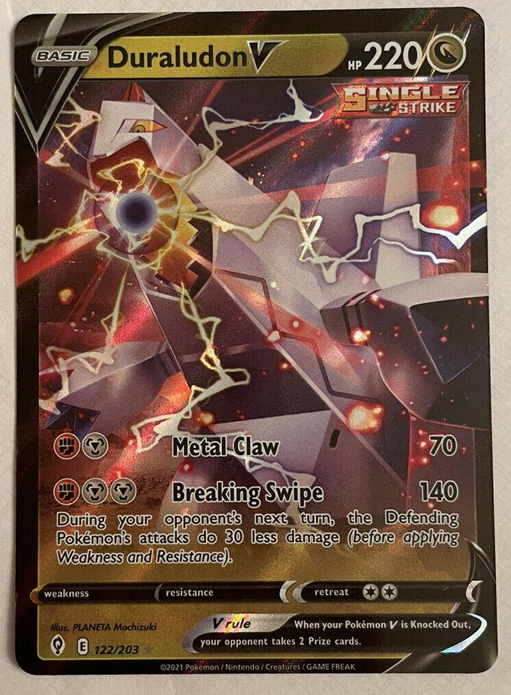 Pokemon - Duraludon V -122/203 - Ultra Rare - Evolving Skies - NM