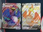 Pokemon Shining Fates SWSH086 Cramorant V and 055/072 Cramorant VMAX Near Mint