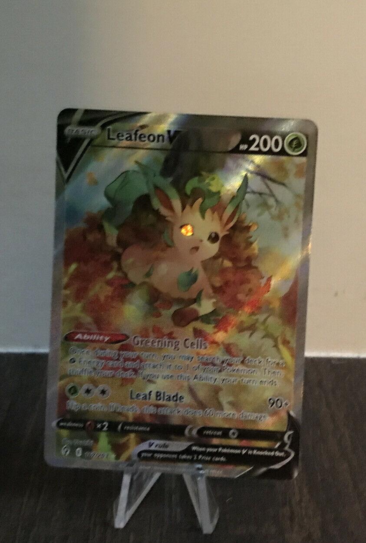 Pokemon Evolving Skies Leafeon V Alternate Art 167/203 Full Art Near Mint