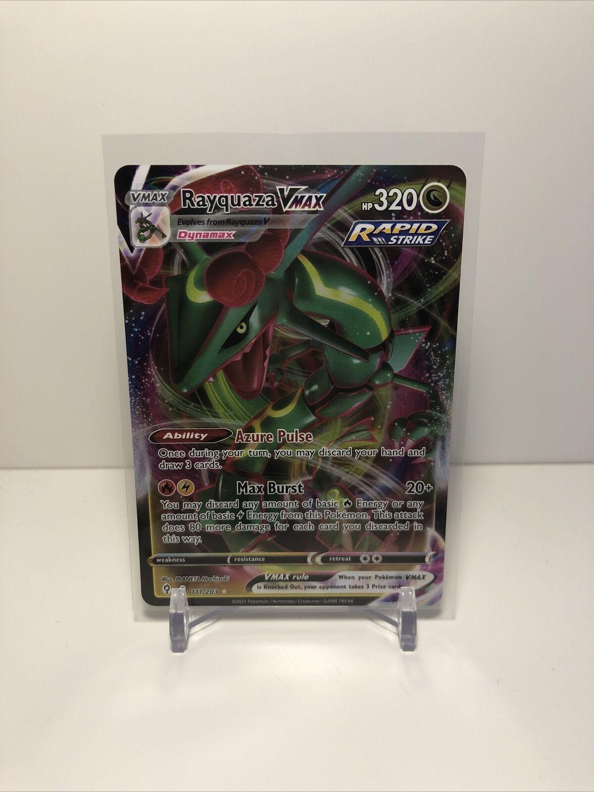 Rayquaza VMAX Pokémon Card (Evolving Skies 111/203) Ultra Rare