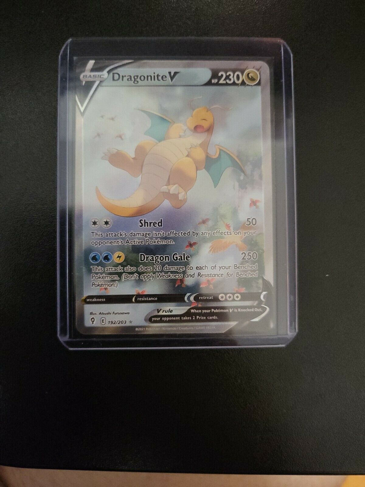 Pokemon - Dragonite V - Evolving Skies - 192/203 - Alternate Art - (PSA) Ready