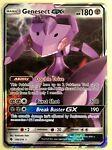 FREE SHIPPING Pokemon GENESECT GX Card LOST THUNDER 130/214 Sun Moon Ultra Rare