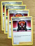 4x Boss's Orders 058/072 Trainer - Shining Fates Pokemon Card Near Mint