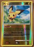 Pokemon Card - Pichu 45/100 - Stormfront Uncommon Reverse Holo - NM