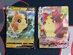 Pokemon Shining Fates 037/072 Morpeko V and 038/072 Morpeko VMAX Ultra Rare NM