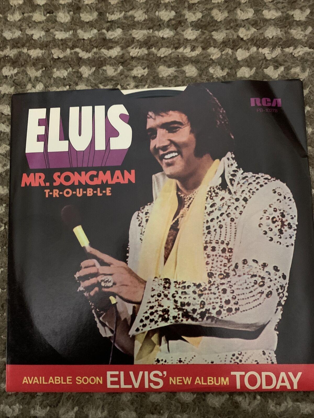 ELVIS PRESLEY / T-R-O-U-B-L-E - Mr. Songman / 45rpm & Picture Sleeve NICE