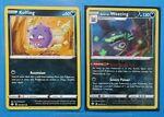 Galarian Weezing 042/072 holo & Koffing 041/072 Pokemon card Shining Fates NM