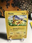 Pokemon 2002 Expedition Base Set #124/165 Pikachu Card MP-HP