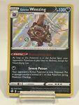 Galarian Weezing SV077/SV122 Shiny Holo Rare Pokémon Shining Fates NM