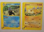 Pokemon Expedition Feraligatr 47/165 Rare Non Holo Cubone 103/165 E-Series PL