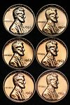 PROOF 1959 1963 x4 1964 Lincoln Memorial Cent Penny 6 Coins FREE SHIPPING