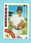 1984 Topps Baseball #406 Ron Guidry All Star