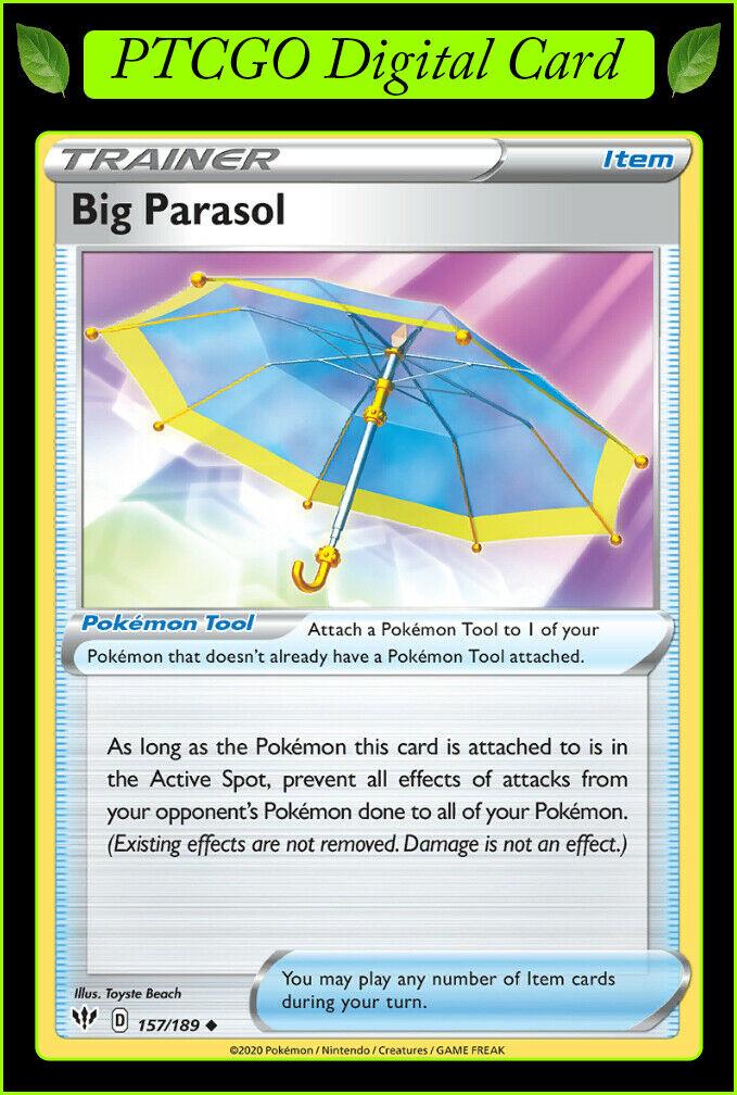 Darkness Ablaze - NM//M English Pokémon Card Big Parasol 157//189