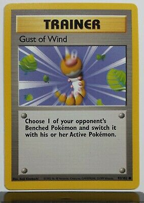 Pokemon Card Unlimited Common NM Gust of Wind Base Set 93//102
