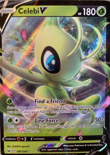 Pokemon Card Celebi V 001//202