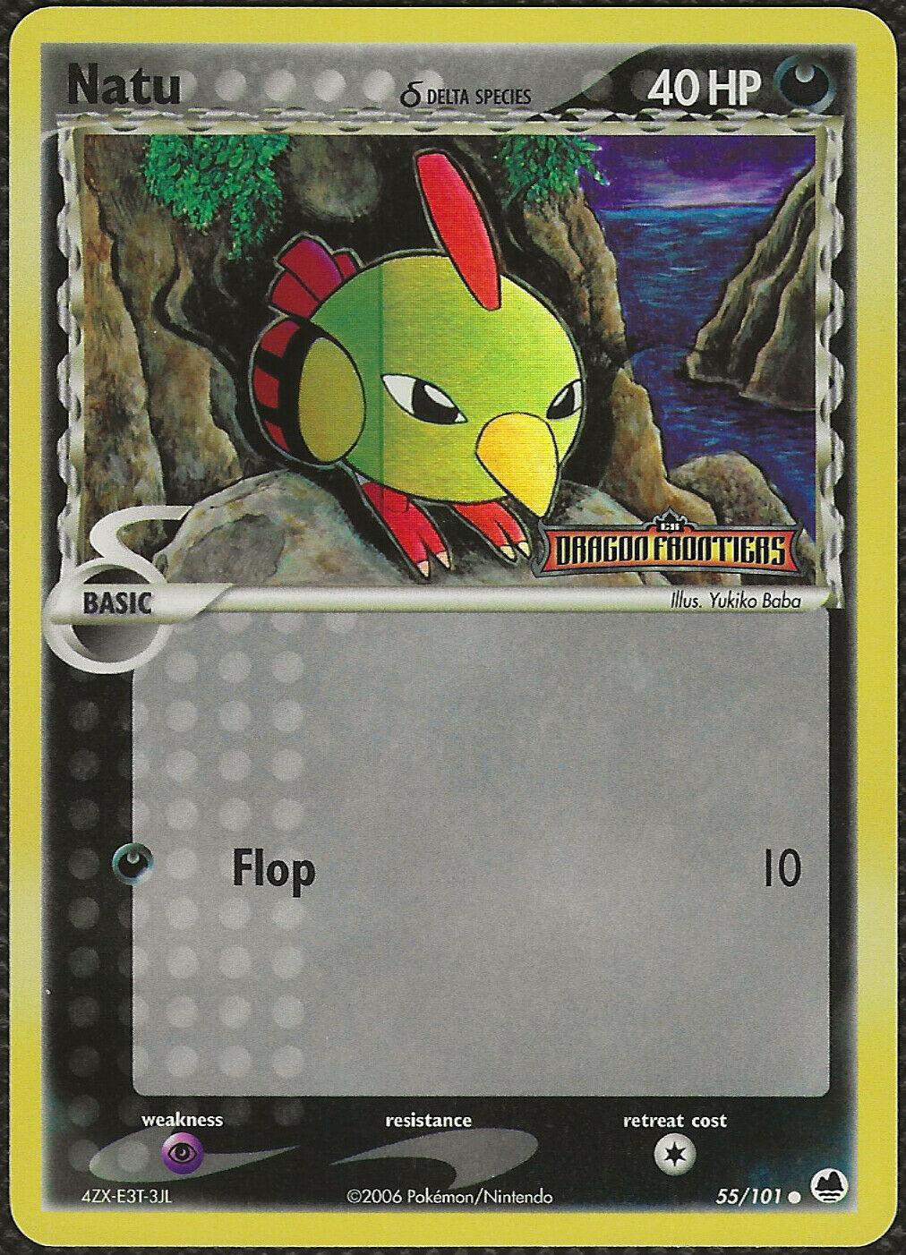 Natu Deutsch Pokemon EX Dragon Frontiers 55//101