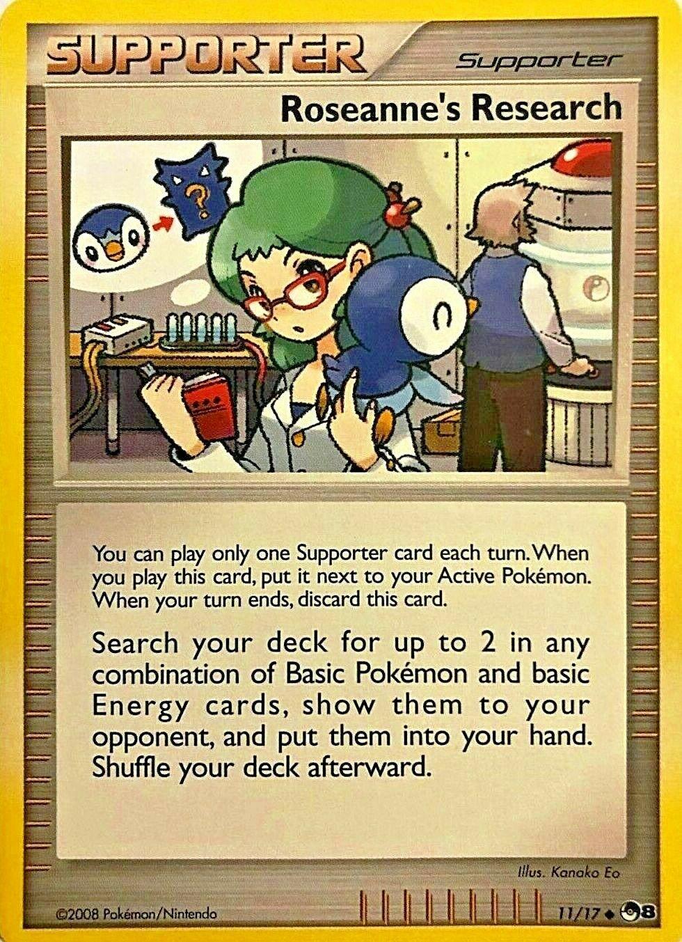 Roseanne's Research 11/17 POP Series 8 Promo Uncommon PERFECT MINT! Pokemon