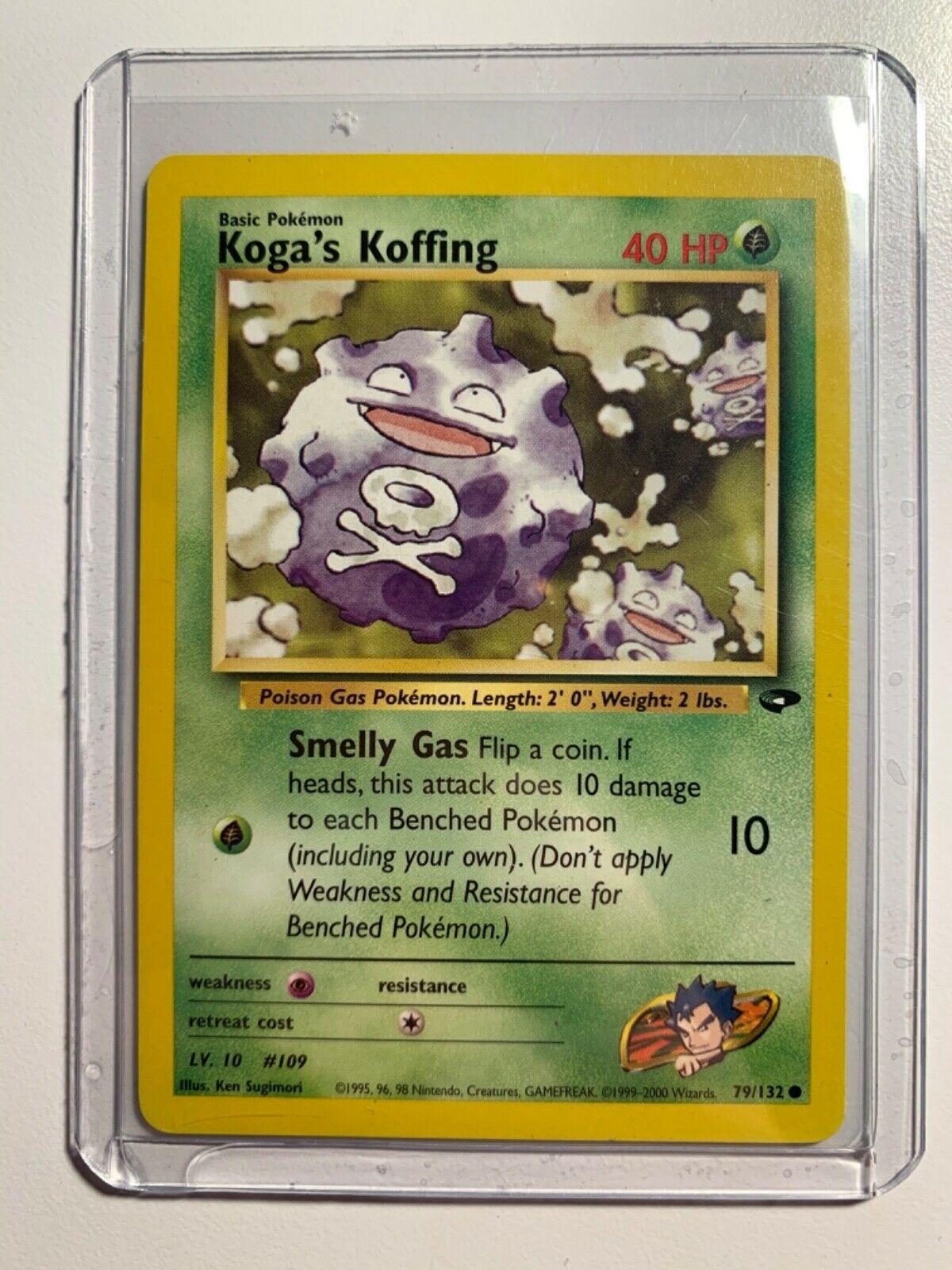 Carte Pokemon KOGA/'S KOFFING 79//132 Gym Challenge Wizard EDITION 1 NEUF